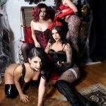 gothic cosplay girls in VR porn